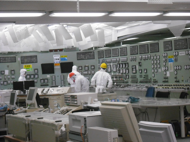 Control room for Unit 2 of Fukushima Daiichi Nuclear Power Station