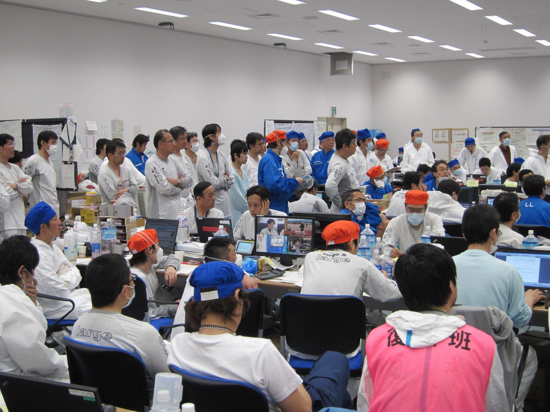 Picture of a disaster relief leaders meeting at Fukushima Daiichi Power Station :Photo1