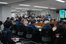 Movie and pictures of Emergency Response Headquarters for the Accident in Fukushima Nuclear Power Stations
