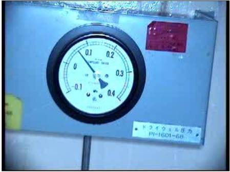 Observation of the pressure gauge of the primary containment vessel