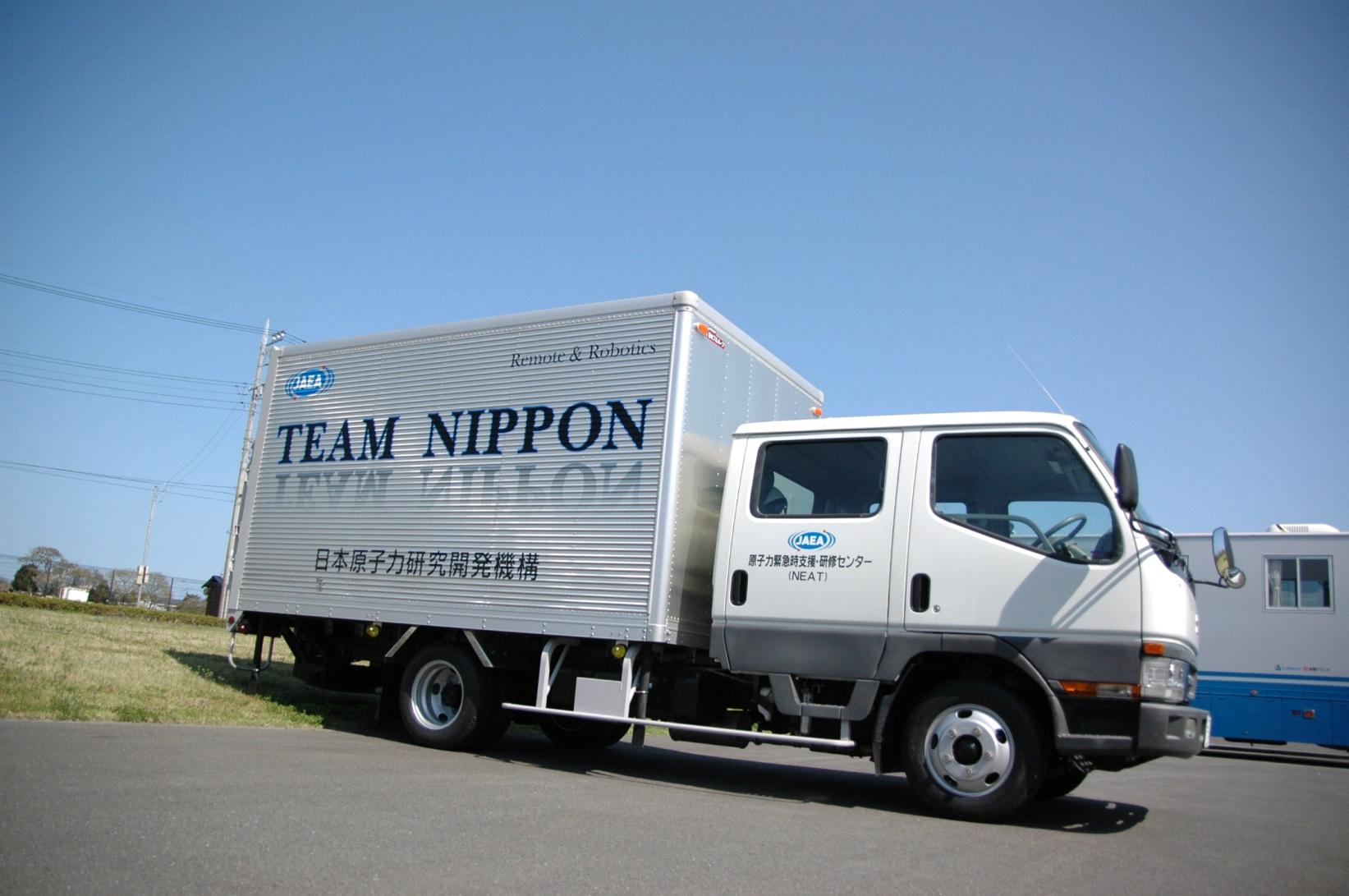 A truck(Provided by Japan Atomic Energy Agency(JAEA))