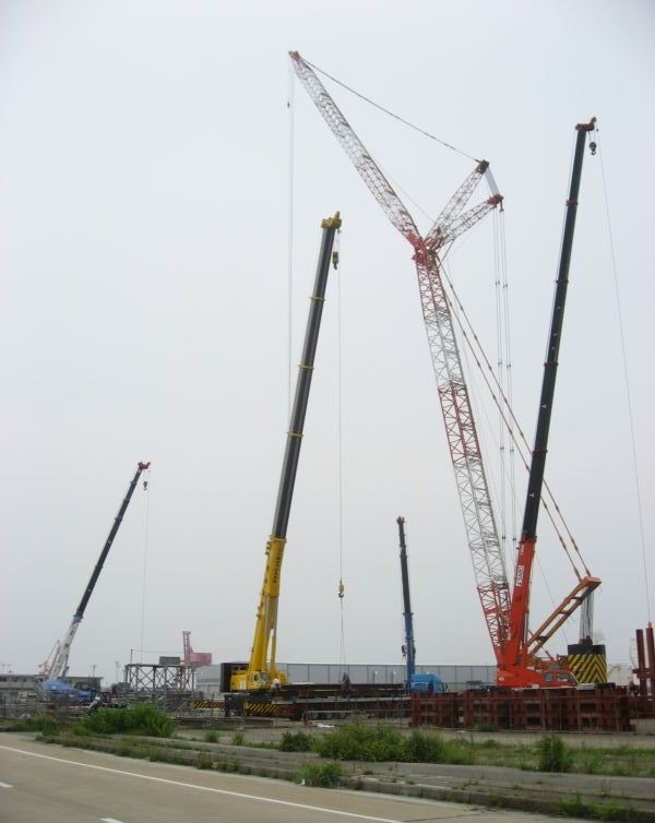 Trial construction of cover unit (Onahama port)