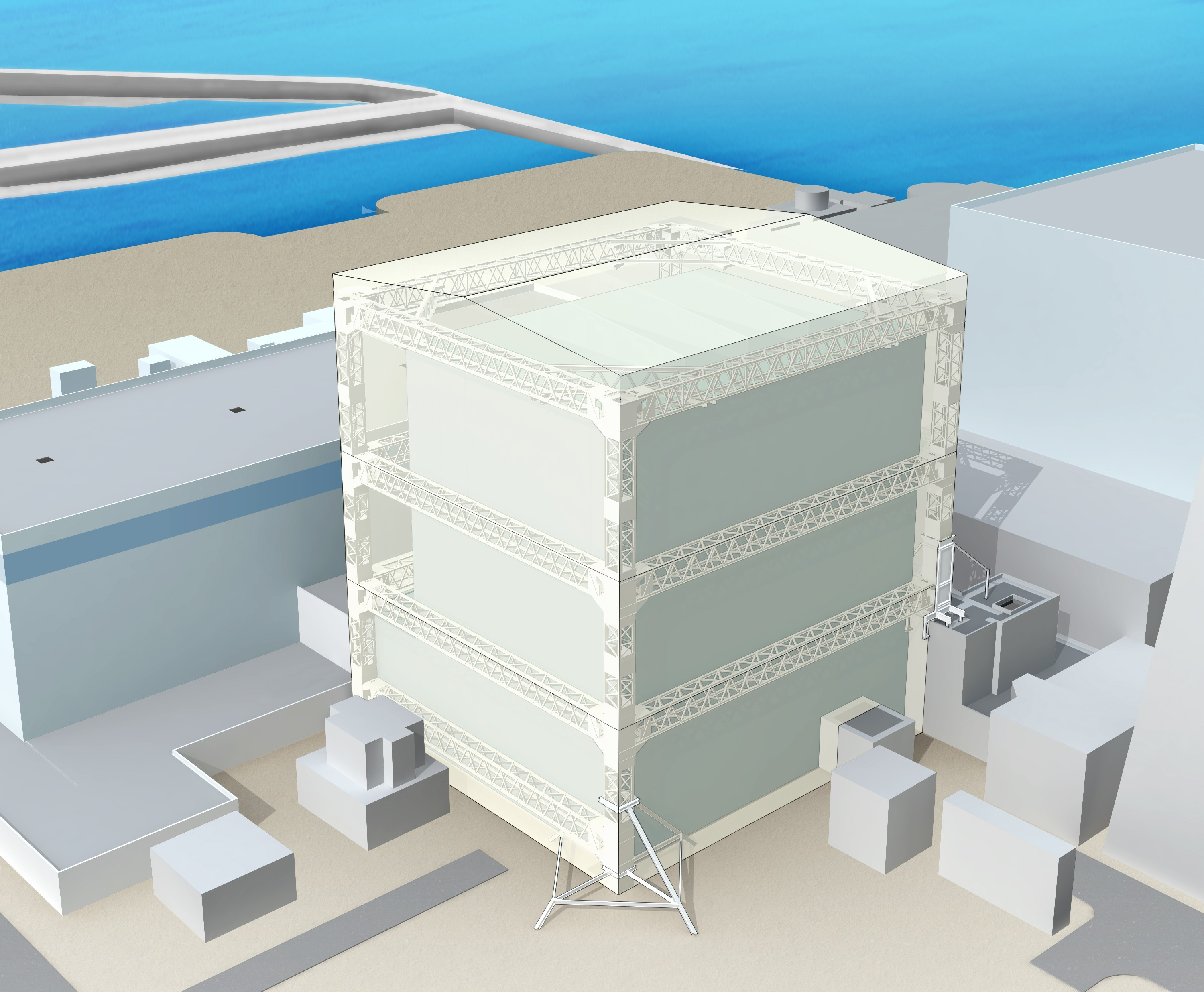 Fukushima Daiichi Nuclear Power Plant unit1reactor building covering image