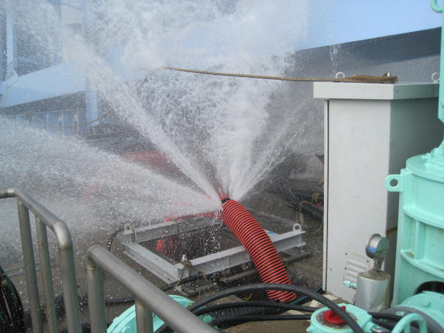 Leakage from Waterpipes of Outline of Temporary RHRS Pump at Unit 5, Fukushima Daiichi Nuclear Power Station