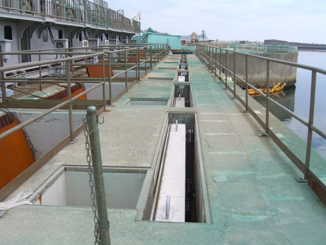 Upper point of Unit 2 water intake(After construction)