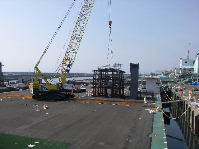 Installation of reactor building cover Unit 1, Fukushima Daiichi Nuclear Power Station(2)
