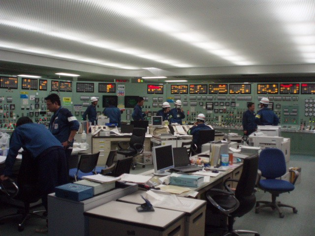 Unit 6 side of Unit 5/6 Main Control Room