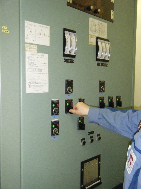 Valve operation on the AM panel in the Main Control Room