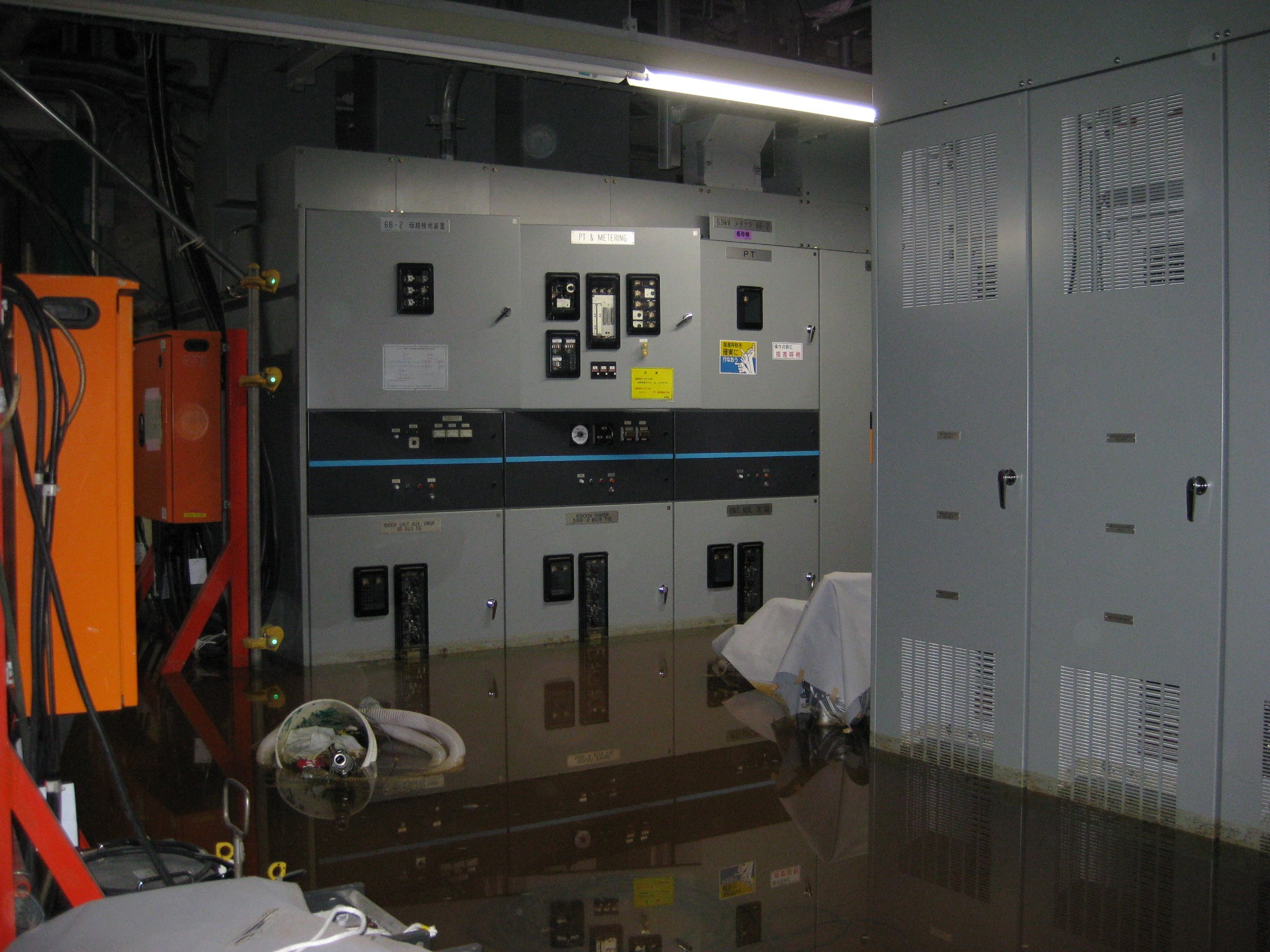 Flood in Electric Equipment Room of Unit 6