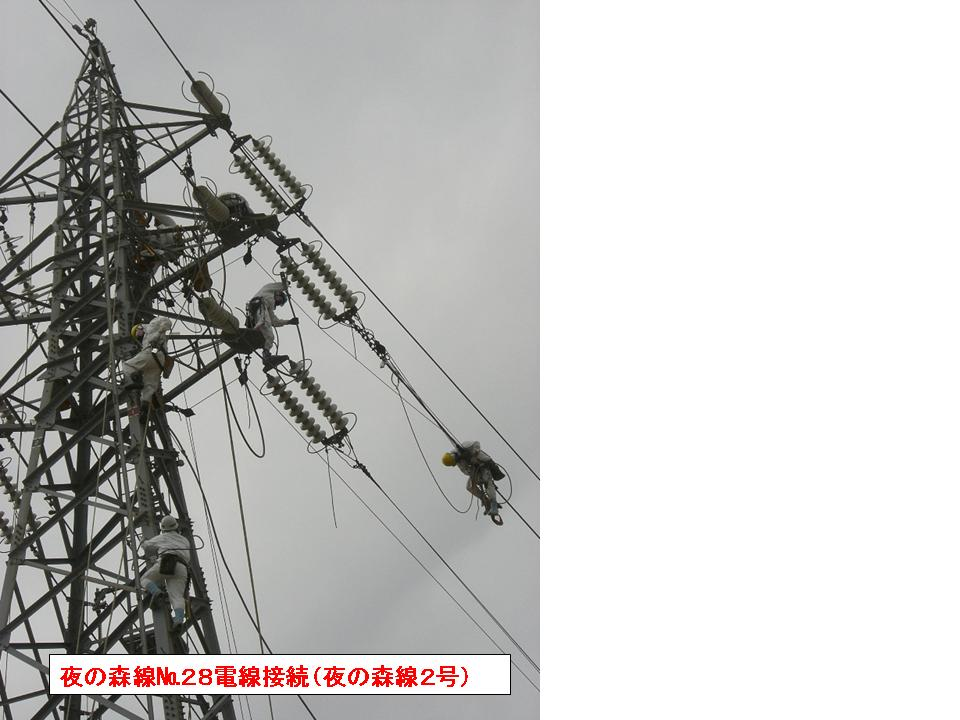 Grid line connection work to offsite power grid (Yonomori line)