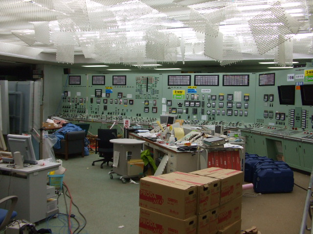 Control room for Unit 1 of Fukushima Daiichi Nuclear Power Station