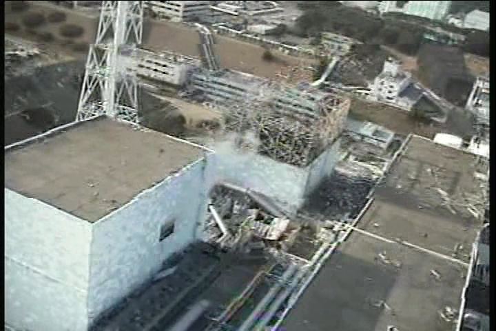Reactor building of Unit1-2 at Fukushima Daiichi Nuclear Power Station