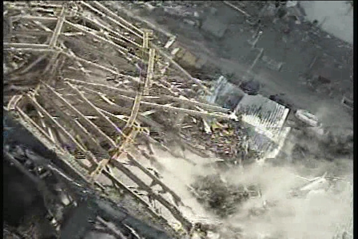 Reactor building of Unit3 at Fukushima Daiichi Nuclear Power Station(closeup-picture)
