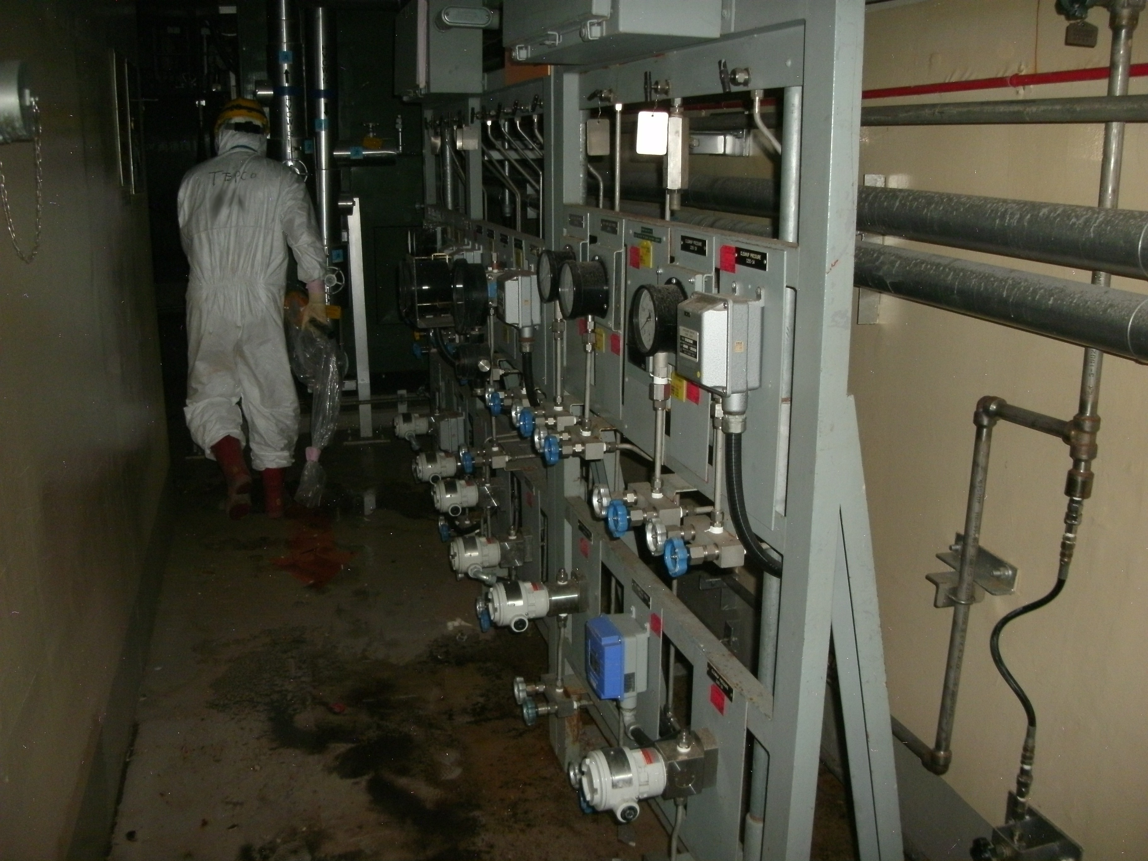 North side of the second floor, Fukushima Daiichi Nuclear Power Station Unit1