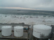 Pictures of Tsunami that hit the Fukushima Daiichi Nuclear Power Station
