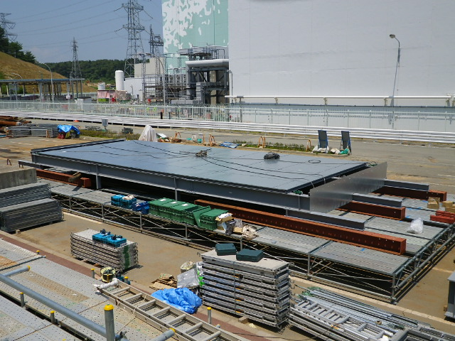 Appearance of the Roof for Countermeasure against Rainwater, Unit 3, Fukushima Daiichi