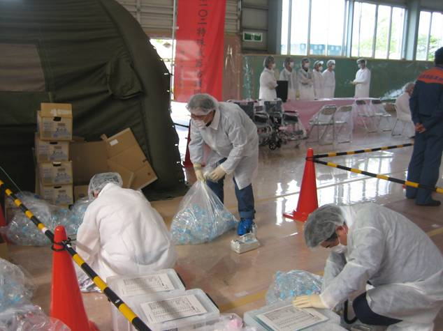 Workers engaging in supportive radiation work in Fukushima