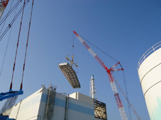 Installation Work of Roof Panels for Reactor Building Covers at Unit 1 of Fukushima Daiichi Nuclear Power Plant