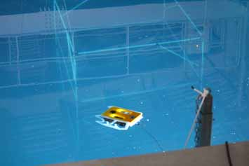 Submersible ROV in the pool